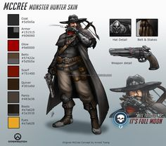 Overwatch - Monster Hunter McCree - Skin Concept by Red-Sinistra on DeviantArt Character Concept, Concept Art, Character Design, Character Ideas, Video Game Art, Video Games, Overwatch Skin Concepts, Empire, Dragon Rpg