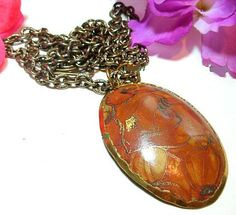 Copper Pendant Necklace Designer Signed by BrightgemsTreasures