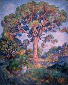 The Pine Tree, Oil On Canvas by Henri Lebasque France) Pine Tree Painting, Art Français, France, French Art, Oeuvre D'art, Statues, Framed Art, Oil On Canvas, Contemporary Art