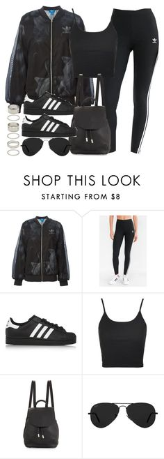 """""""Style #11267"""" by vany-alvarado ❤ liked on Polyvore featuring adidas Originals, adidas, Topshop, rag & bone, Ray-Ban and Forever 21"""