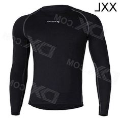 Nuckily MH003 Mens Outdoor Cozy Sports Jersey for Hiking / Cycling - Black (XXL)