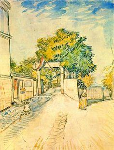 Entrance to the Moulin de la Galette - Vincent van Gogh - Watercolour - 1887 ...............#GT