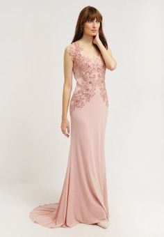 Mascara Occasion wear - rose for with free delivery at Zalando Silk Bridesmaid Dresses, Blush Pink Dresses, Pink Mini Dresses, Floral Dress Outfits, Black Dress Outfits, Summer Dress Outfits, Pretty Dresses For Teens, Beautiful Dresses, Colored Wedding Dress