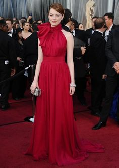 Emma Stone was in Giambattista Valli Couture Spring 2012.-Oscars 2012