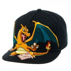 Pokemon - Charizard Black Snapback Hat