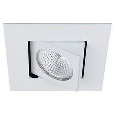"""The WAC Lighting Oculux 3.5"""" LED Square Adjustable Trim offers adjustable recessed lighting to illuminate rooms and general spaces with ease. Installs in an Oculux remodel or new construction housing. This trim installation delivers a single spotlight light that may be adjusted to create a wall wash or general downlight. Features a 4.25"""" cutout and a Die-Cast Aluminum build for durability. Dimmable with an ELV, TRIAC, or 0 – 10V dimmer (sold separately)."""