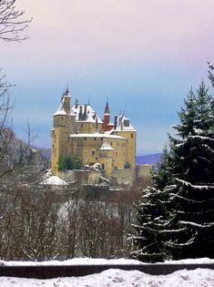 The castle of Menthon which overlooks Lake Annecy (French Alps)