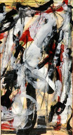 Emilio Vedova  Untitled , 1964  Mixed media on paper, cm. 48 x 25