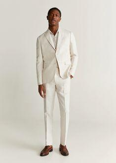 Linen Suits For Men, Mens Suits, Costume En Lin, Costume Slim, Blazer Suit, Suit Jacket, Man United, Linen Shorts, Manga
