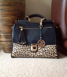 fafba9dab9 Classy leopard print tote bag also available in beige http   www.bagenvy