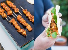Create your own Tex-Mex inspired rub and grill away. These skewers are easy to grill and then slide into a tortilla with vegetables and your favorite sauce.