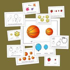 Los conceptos: Grande-Pequeño Three Year Olds, Super Powers, Montessori, Spanish, Homeschool, Playing Cards, Language, Teacher, Holiday Decor