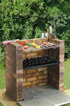 """Fantastic """"built in grill diy"""" detail is available on our site. Read more and you wont be sorry you did. Diy Grill, Clean Grill, Barbecue Grill, Large Backyard Landscaping, Backyard Bbq, Parrilla Exterior, Brick Grill, Brick Built Bbq, Charcoal Bbq"""
