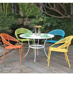 Spring Brights Patio Furniture Set Full Size Table And Four Chairs. For  Over 140 Years