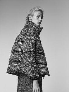 Coat is too great. Houndstooth #downjacket