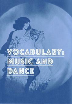 French Vocab: Music and Dance – La musique et la danse #french #vocab