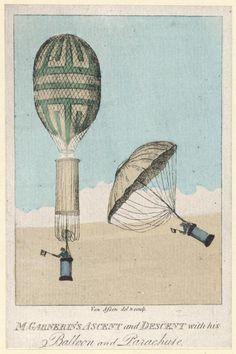 Am 22. Oktober 1797 gelang André-Jacques Garnerin sein gefeierter Fallschirmsprung