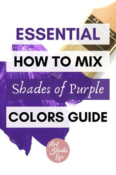 So many shades of purple to learn how to mix colors with! This was a veeery helpful guide for learning color mixing with purple colors!!