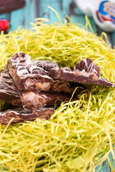 Cadbury Egg Bark - a great way to use up extra Easter candy from The Girl In The Little Red Kitchen