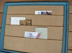 Burlap Wall Organizer- Even if you aren't crafty, you could make this for less than what it is listed for.