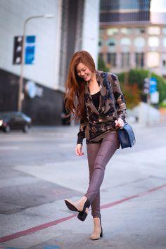 #OOTD @Tsangtastic in Hudson Jeans Nico in Drifter Wax.