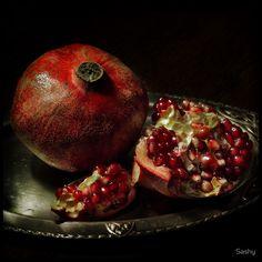 Pomegranate ~ by Sashy  #photography #still_life #myt