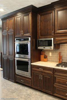 Geneseo, IL kitchen with Birch cabinets and Cambria Quartz Kitchen Cabinet Design, Kitchen Redo, Kitchen Layout, Home Decor Kitchen, Kitchen Furniture, Kitchen Interior, New Kitchen, Home Kitchens, Kitchen Remodel