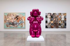 Jeff Koons, New Paintings and Sculpture exhibition at Gagosian Gallery @ 555 West 24th Street, NY. Check it out, before it closes on July 3