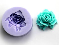 1-Cavity Rose Flower Polymer Clay Mold Fondant Mold Flexible Silicone Chocolate Mould Resin Mold Jewelry Soap Mold F0075