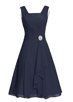 Dresstells® Women's Short Square Chiffon Bridesmaid Dress Party Dress with Sash Navy Size 2 Dresstells http://www.amazon.com/dp/B010SQ1K0Y/ref=cm_sw_r_pi_dp_JdzHwb0SQ02YW