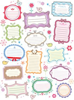 Adorable Notes, Labels or Borders