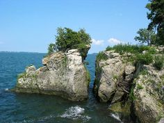 Rocks on the north shore (of Lake Erie, Bass Island area)