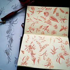 Pat Blair Pointed Pen Sketchbook Workshop #pointedpen #copperplate #flourish…