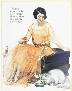 """Coca-Cola; Coke; 1920; Happy 20'; Felices 20; """"Thirst is a touch of nature that makes the whole world kin""""; Advertising; Publicidad"""