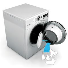 Twin drums Washing Machine (one for delicates and on for regular) in the same wash saving water, time and electricity
