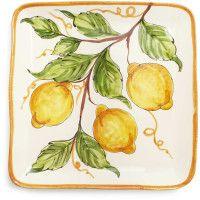square lemon serving dish.