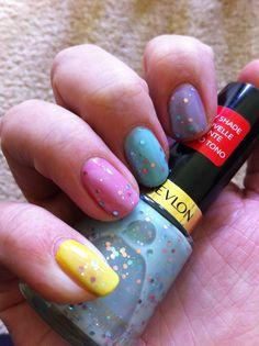 Revlon Whimsical Skittles - the colour is sheer so layers easily