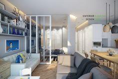Квартира в скандинавском стиле. Квартира-студия