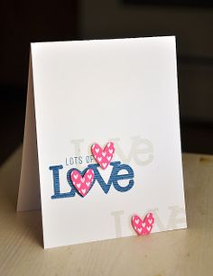 Lots Of Love Card by Maile Belles for Papertrey Ink (December 2013)