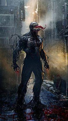 Marvel Venom under the rain Venom Comics, Marvel Venom, Marvel Vs, Marvel Dc Comics, Marvel Heroes, Films Marvel, Marvel Villains, Marvel Characters, Marvel Cinematic