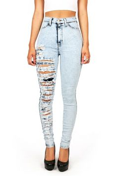 Ripped Jeans Front And Back - Jon Jean