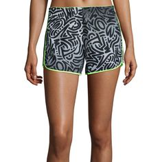 Reebok Running Essentials Woven Shorts ($27) ❤ liked on Polyvore featuring activewear, activewear shorts, reebok, reebok activewear and reebok sportswear