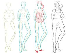 How To Draw Fashion: How to Draw the Body / Fashion Figure Drawing. This could help teach students how to draw people, but could be used for a famous person actor/fashion/athlete portrait.