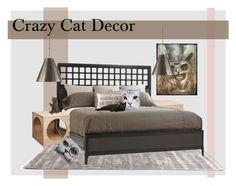 """Cray Cray Cat Decor"" by rassasy ❤ liked on Polyvore"