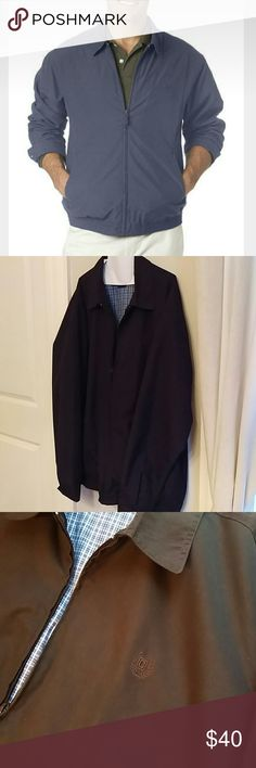 Chaps Big & Tall Full-Zip Microfiber Jacket Men's Navy Blue Big & Tall Full-Zip Microfiber Jacket. Practically brand new, only worn for a few hours. XLT Chaps Jackets & Coats