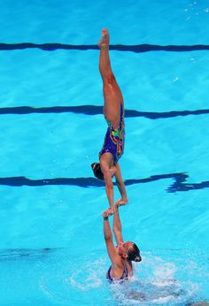 Switzerland compete during the Synchronized Swimming Team Free Final on day seven of the 15th FINA World Championships at Palau Sant Jordi on July 26, 2013 in Barcelona, Spain.