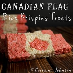 Need some Canadian themed treats to serve during Canada day celebrations? Try your hand at making these patriotic Canadian Flag Rice Krispies Treats that are as much fun to eat as they are to make! Cake Ingredients, Rice Krispie Treats, Rice Krispies, Cereal Treats, Fun Desserts, Dessert Recipes, Canada Day Party, Homemade Tacos, Recipes