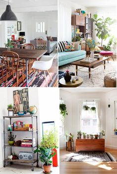love the eclectic mix....and plants make everything better