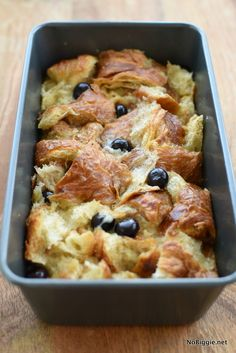 Make bread pudding with leftover croissants! It seriously makes THE BEST bread pudding. Serve it up with our favorite buttermilk syrup for dessert. Leftover Croissant Recipe, Vegan Croissant, Croissant Bread, Blueberry Bread Pudding, Bread Pudding With Croissants, Bread Pudding With Apples, Pudding Desserts, Pudding Recipes, Bread Recipes