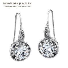 Rhinestone Fashion Dangle Earrings Bridal Wedding Charm Jewelry Teen Girls Gift  New Hot Birthstone Promise Wedj P1